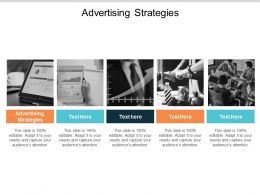 Advertising Strategies Ppt Powerpoint Presentation Gallery Format Ideas Cpb