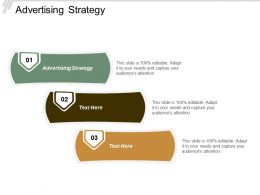 Advertising Strategy Ppt Powerpoint Presentation Pictures Gridlines Cpb