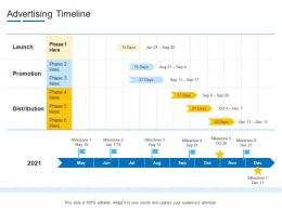 Advertising Timeline Product Channel Segmentation Ppt Professional
