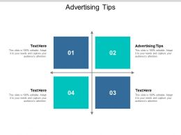 Advertising Tips Ppt Powerpoint Presentation Slides Summary Cpb