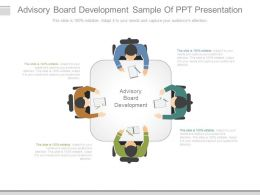 Advisory Board Development Sample Of Ppt Presentation