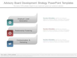Advisory Board Development Strategy Powerpoint Templates
