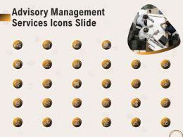 Advisory Management Services Icons Slide Ppt File Aids
