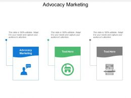 Advocacy Marketing Ppt Powerpoint Presentation Diagram Lists Cpb