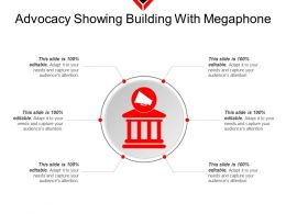 Advocacy Showing Building With Megaphone