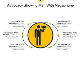 Advocacy Showing Man With Megaphone