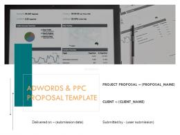 Adwords And PPC Proposal Template Powerpoint Presentation Slides