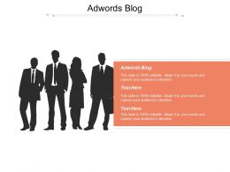 Adwords Blog Ppt Powerpoint Presentation File Brochure Cpb