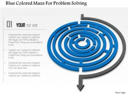 Ae Blue Colored Maze For Problem Solving Powerpoint Templets