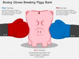 Ae Boxing Gloves Breaking Piggy Bank Flat Powerpoint Design