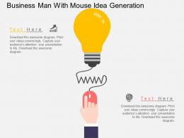 ae Business Man With Mouse Idea Generation Flat Powerpoint Design