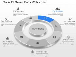 Ae Circle Of Seven Parts With Icons Powerpoint Template