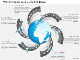 Ae Multiple Roads And Globe For Travel Powerpoint Template