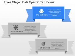 Ae Three Staged Data Specific Text Boxes Powerpoint Template Slide