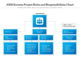 AEM Screens Project Roles And Responsibilities Chart