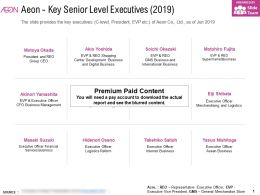 Aeon Key Senior Level Executives 2019