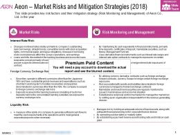 Aeon Market Risks And Mitigation Strategies 2018