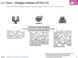 Aeon Strategic Initiatives 2018