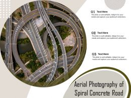Aerial Photography Of Spiral Concrete Road