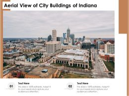 Aerial View Of City Buildings Of Indiana