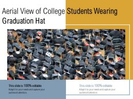 Aerial View Of College Students Wearing Graduation Hat