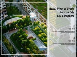 Aerial View Of Green Roof On City Sky Scrappers