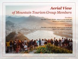 Aerial View Of Mountain Tourism Group Members