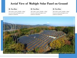 Aerial View Of Multiple Solar Panel On Ground