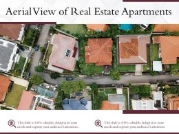 Aerial View Of Real Estate Apartments