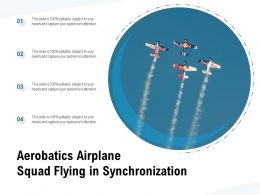 Aerobatics Airplane Squad Flying In Synchronization