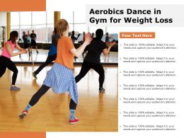 Aerobics Dance In Gym For Weight Loss