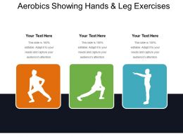 Aerobics Showing Hands And Leg Exercises