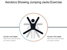 Aerobics Showing Jumping Jacks Exercise