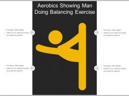 Aerobics Showing Man Doing Balancing Exercise