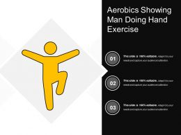 Aerobics Showing Man Doing Hand Exercise