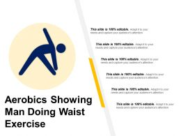 Aerobics Showing Man Doing Waist Exercise