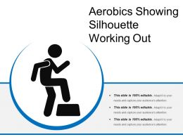 Aerobics Showing Silhouette Working Out