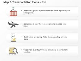 Aeroplane Mobile Magnifier Global Travel Ppt Icons Graphics
