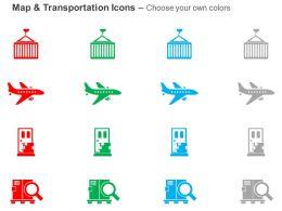 aeroplane_mobile_magnifier_global_travel_ppt_icons_graphics_Slide02