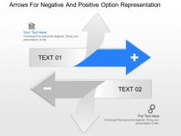 af Arrows For Negative And Positive Option Representation Powerpoint Template