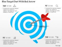 Af Blue Target Dart With Red Arrow Powerpoint Template