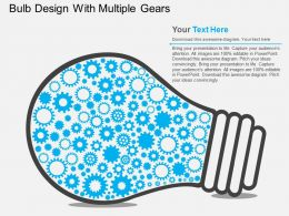 af Bulb Design With Multiple Gears Flat Powerpoint Design