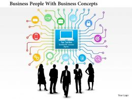 Af Business People With Business Concepts Powerpoint Templets