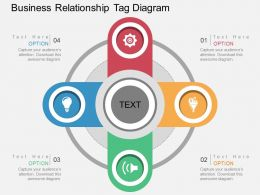 af Business Relationship Tag Diagram Flat Powerpoint Design
