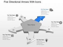 Af Five Directional Arrows With Icons Powerpoint Template