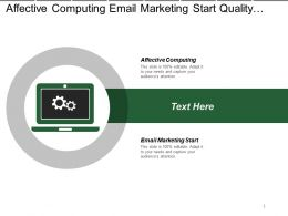 Affective Computing Email Marketing Start Quality Management System