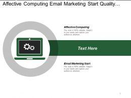Affective Computing Email Marketing Start Quality Management System