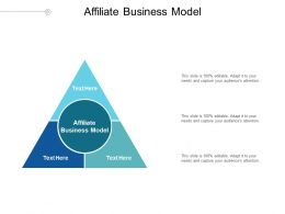 Affiliate Business Model Ppt Powerpoint Presentation Styles Deck Cpb