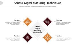 Affiliate Digital Marketing Techniques Ppt Powerpoint Presentation Gallery Topics Cpb