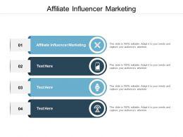 Affiliate Influencer Marketing Ppt Powerpoint Presentation Portfolio Demonstration Cpb